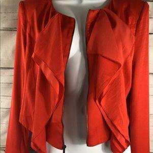 BCBGMaxAzria Jackets & Coats - BCBG Max Azria Preston M, cascade  Zip Blazer,